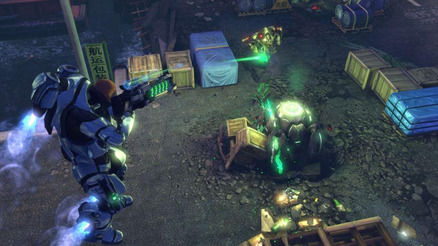 XCOM Enemy Unknown sci-fi warrior weapon y wallpaper