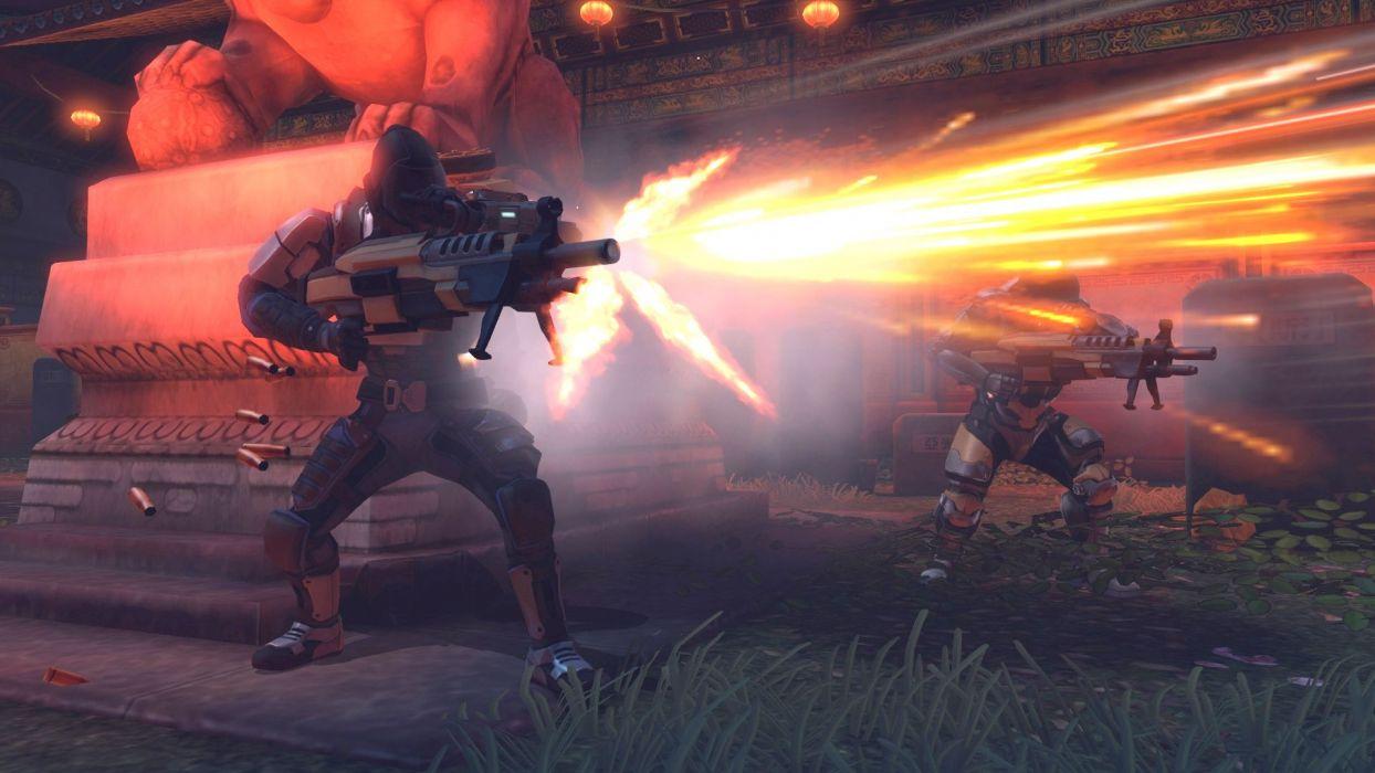 XCOM Enemy Unknown sci-fi warrior weapon battle       y wallpaper
