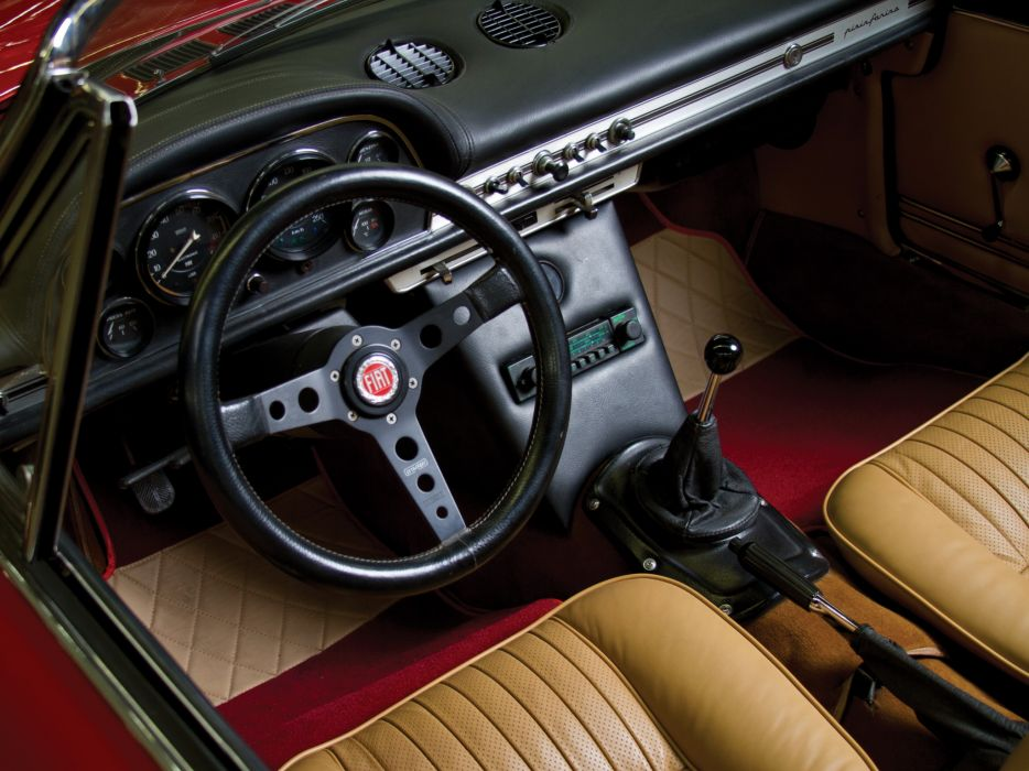 1966 Fiat Dino Spider (135) classic interior  f wallpaper