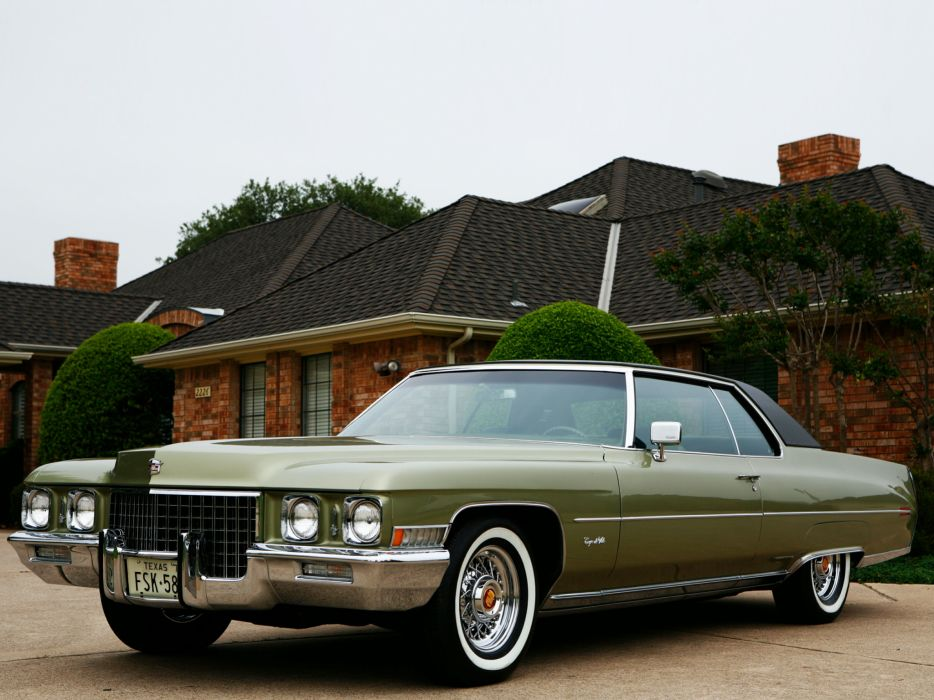 1971 Cadillac Coupe de Ville (68347J) luxury classic   h wallpaper