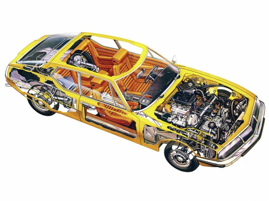 1971 CITROEN SM classic s-m interior engine      g wallpaper