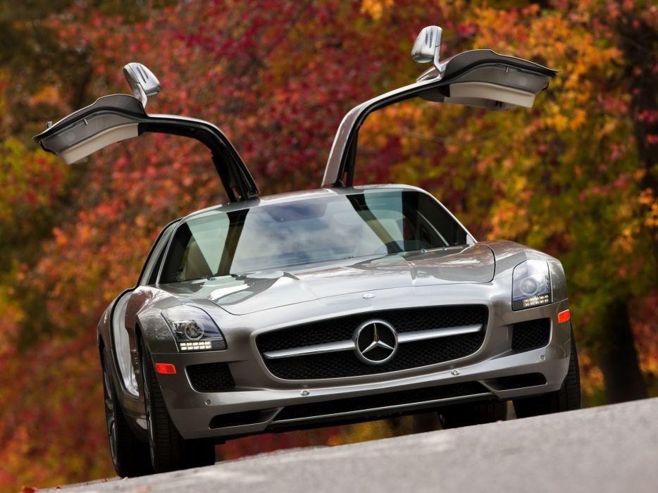 2010 Mercedes Benz SLS 63 AMG US-spec (C197) 6-3 supercar    g wallpaper