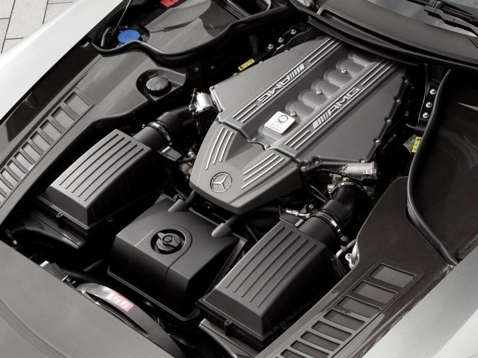 2010 Mercedes Benz SLS 63 AMG US-spec (C197) 6-3 supercar engine     h wallpaper
