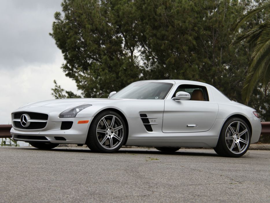 2010 Mercedes Benz SLS 63 AMG US-spec (C197) 6-3 supercar  g wallpaper