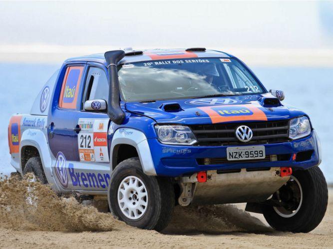 2012 Volkswagen Amarok Rally Truck race racing awd offroad pickup g wallpaper
