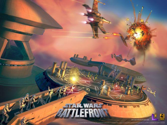 STAR WARS BATTLEFRONT sci-fi battle spaceship f wallpaper