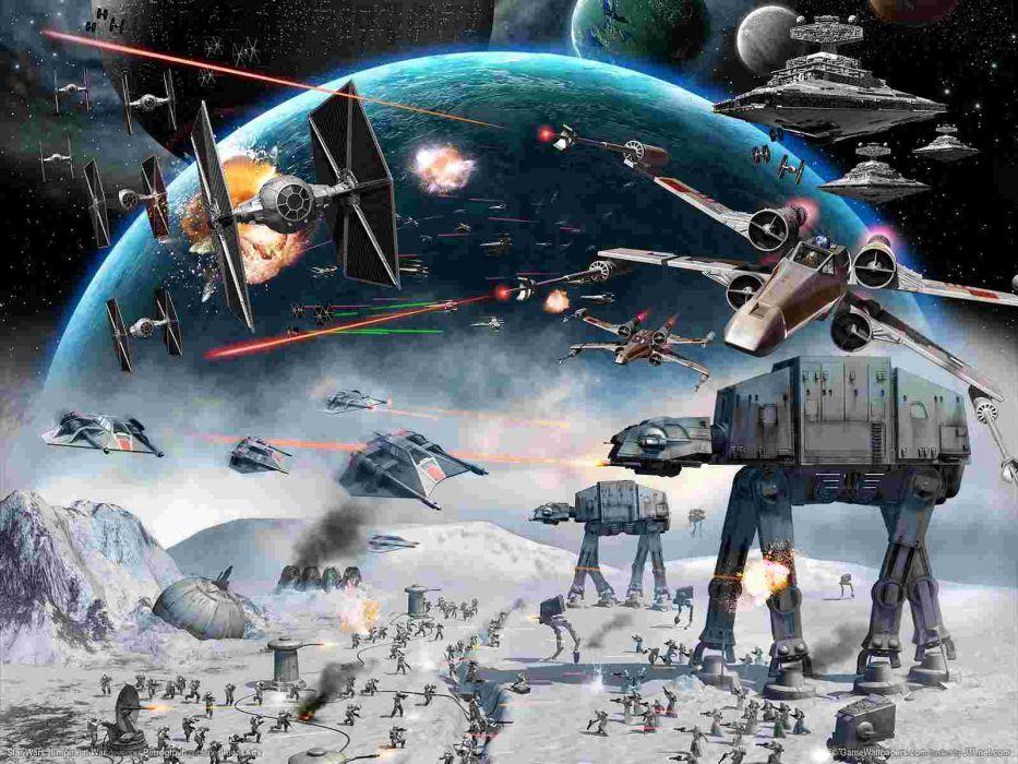 STAR WARS BATTLEFRONT sci-fi battle spaceship   h wallpaper