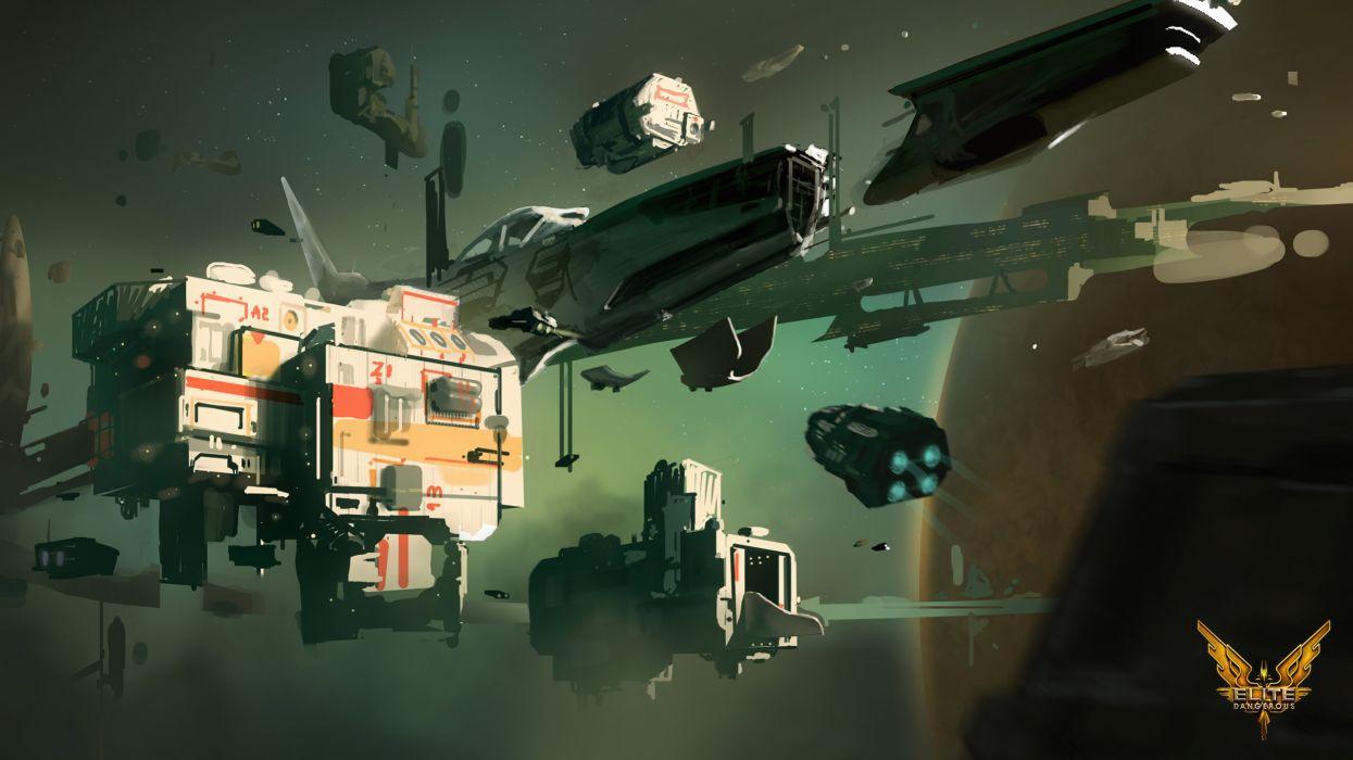 ELITE DANGEROUS sci-fi spaceship game    jr wallpaper