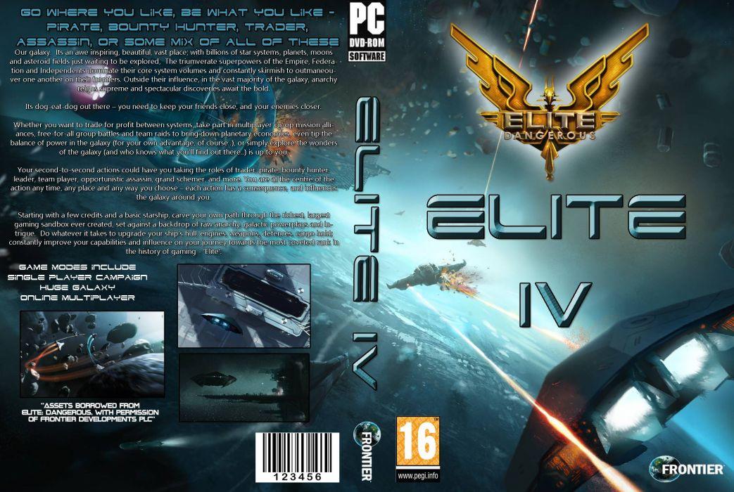 ELITE DANGEROUS sci-fi spaceship game poster       h wallpaper