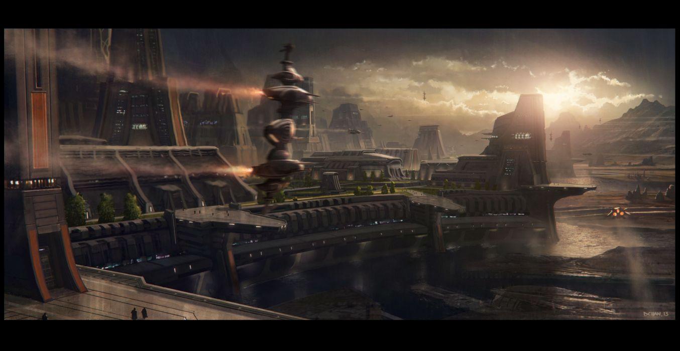 STAR CITIZEN sci-fi city  j wallpaper