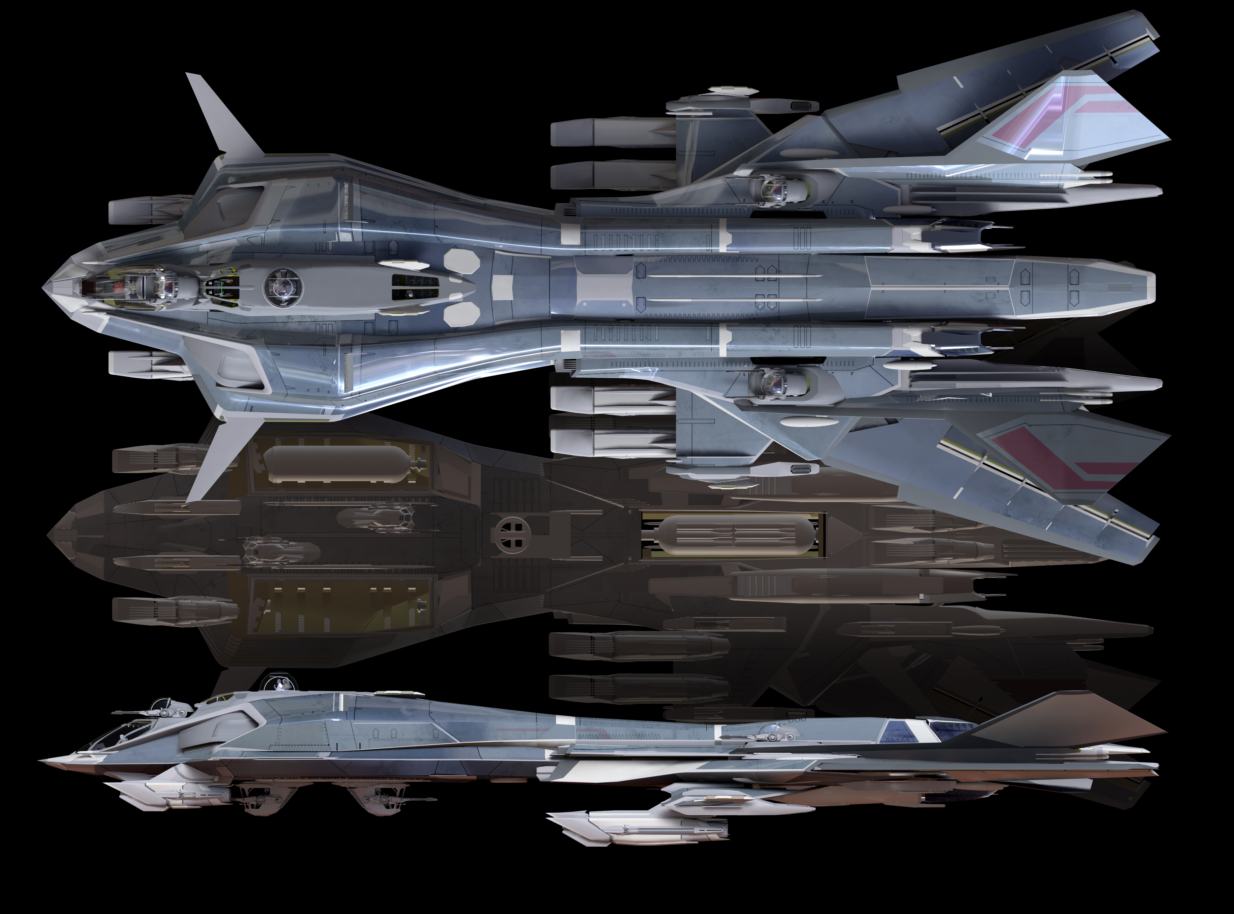 Sci Fi Spaceships Blueprints
