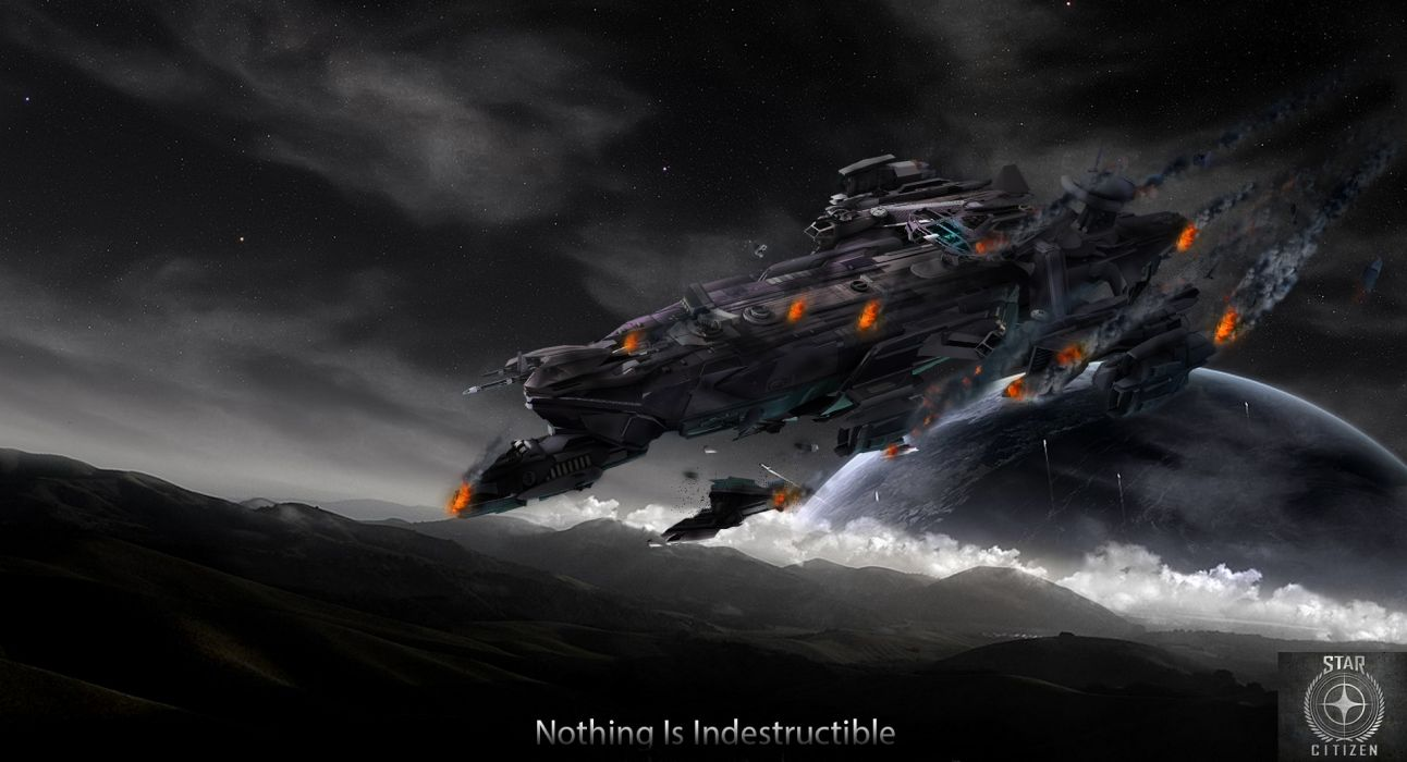 STAR CITIZEN Sci Fi Spaceship Game Jd Wallpaper