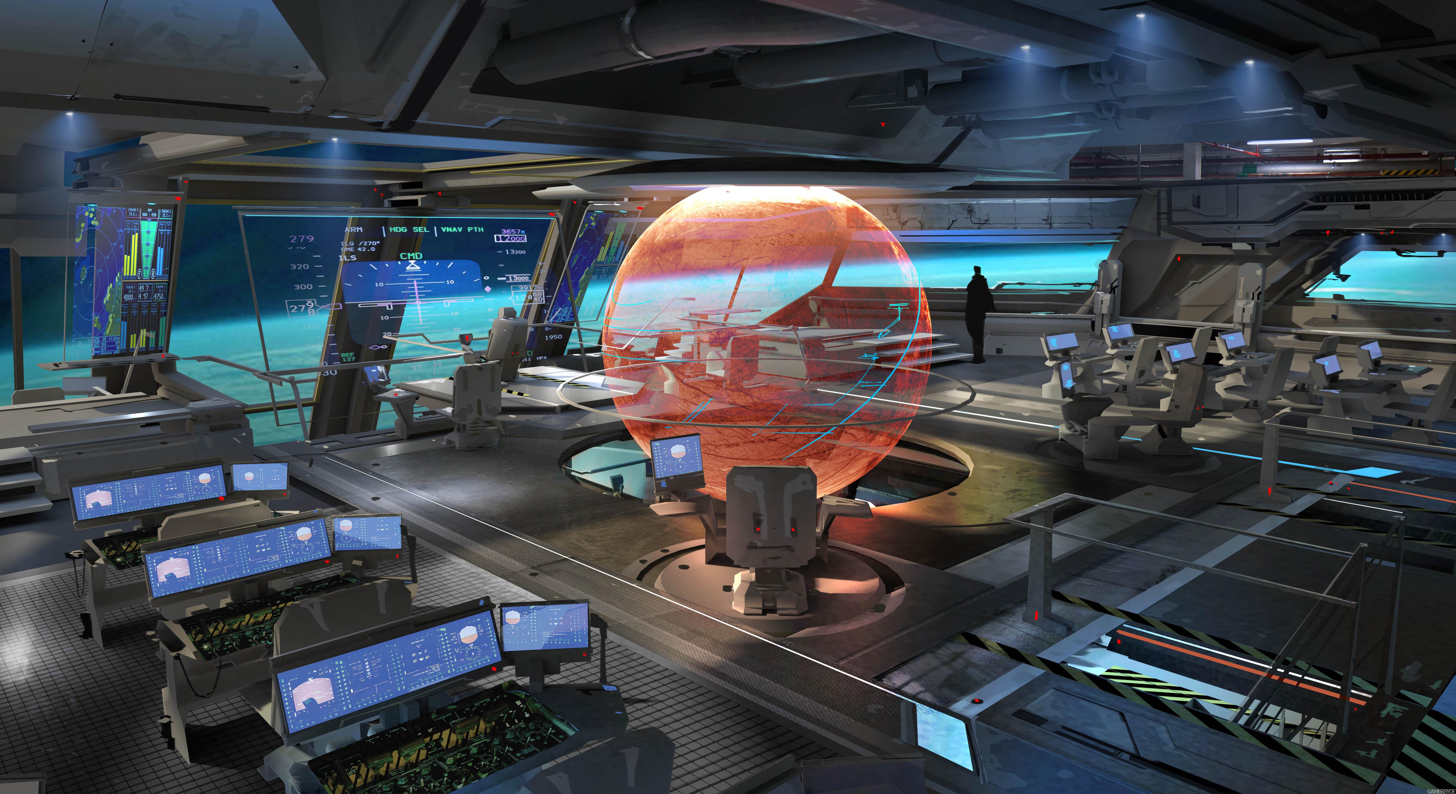 Spaceship Interior Background Viewing Gallery