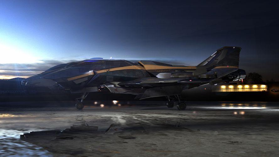 STAR CITIZEN sci-fi spaceship game f wallpaper