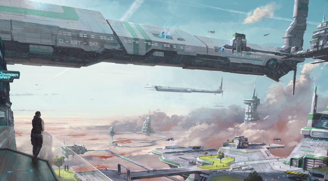 STAR CITIZEN sci-fi spaceship game city u wallpaper