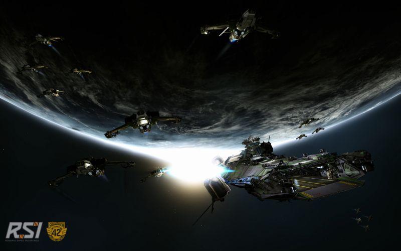 STAR CITIZEN sci-fi spaceship game space g wallpaper