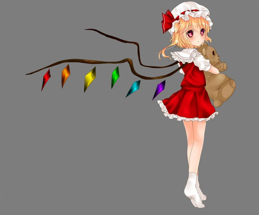 touhou flandre scarlet loli touhou transparent vampire wings     f wallpaper