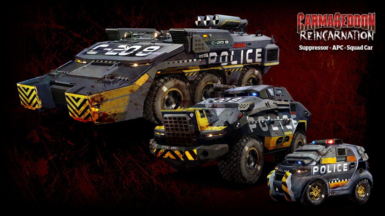 Carmageddon Reincarnation game police       g wallpaper