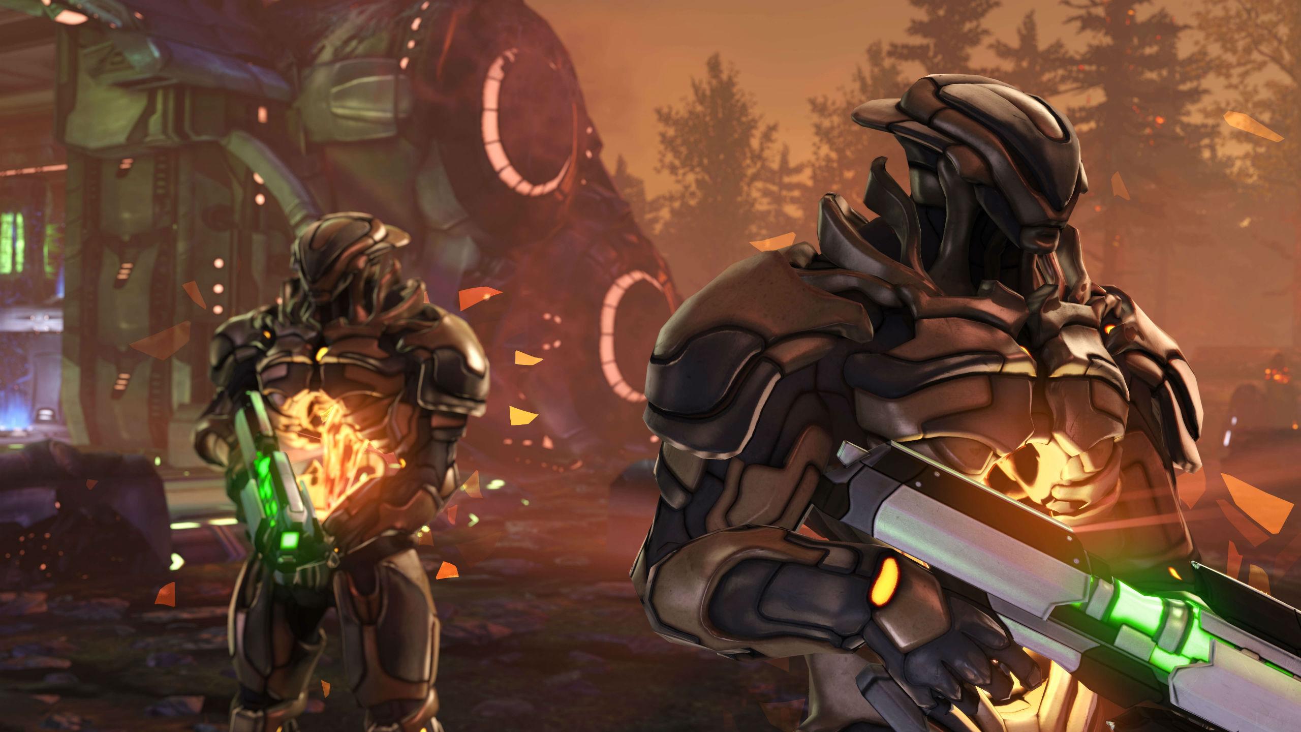 xcom enemy unknown sci-fi warrior weapon u wallpaper | 2560x1440