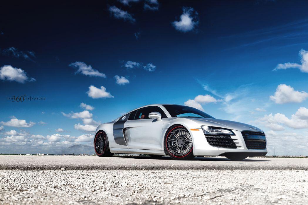 360 Silver Audi R8 10 wallpaper