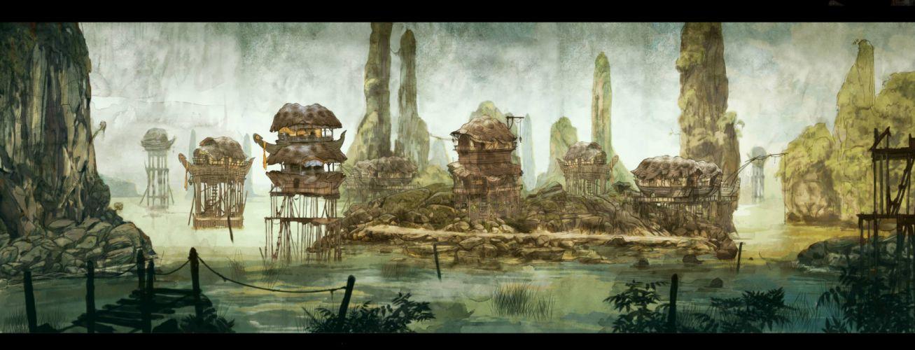 CHILD OF LIGHT fantasy game city j wallpaper