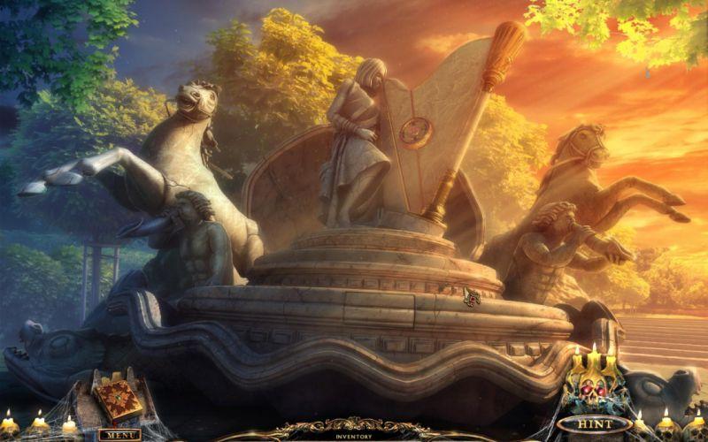 PORTAL OF EVIL STOLEN RUNES fantasy dark game r wallpaper