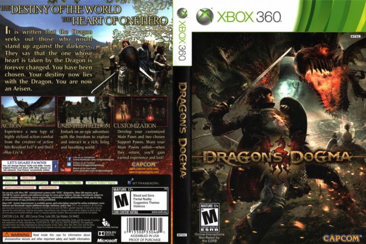 DRAGONS DOGMA fantasy game poster j wallpaper