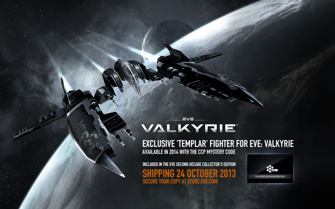 EVE Valkyrie sci-fi game spaceship poster       j wallpaper