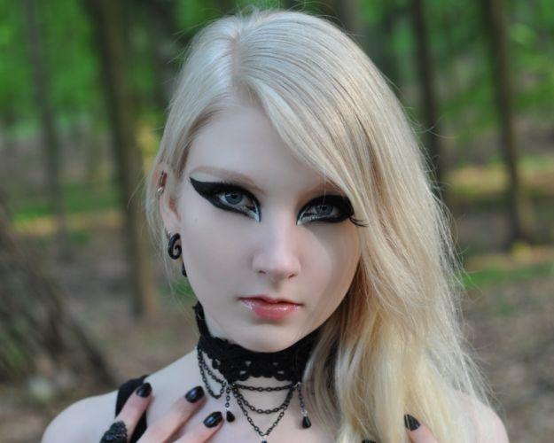 GOTHIC goth style goth-loli women girl g wallpaper