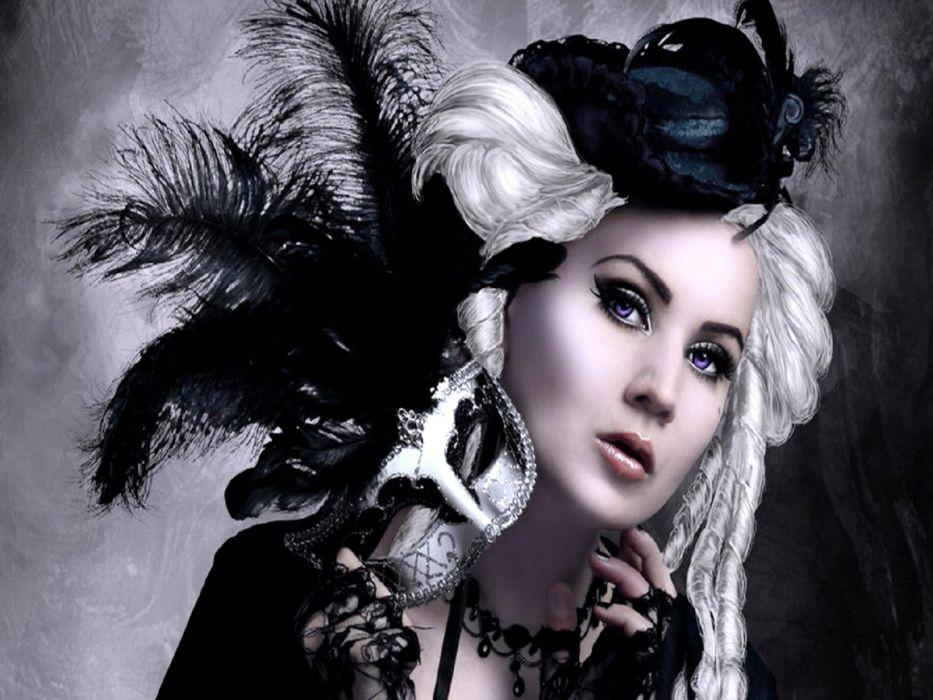 GOTHIC goth style goth-loli women girl    y wallpaper