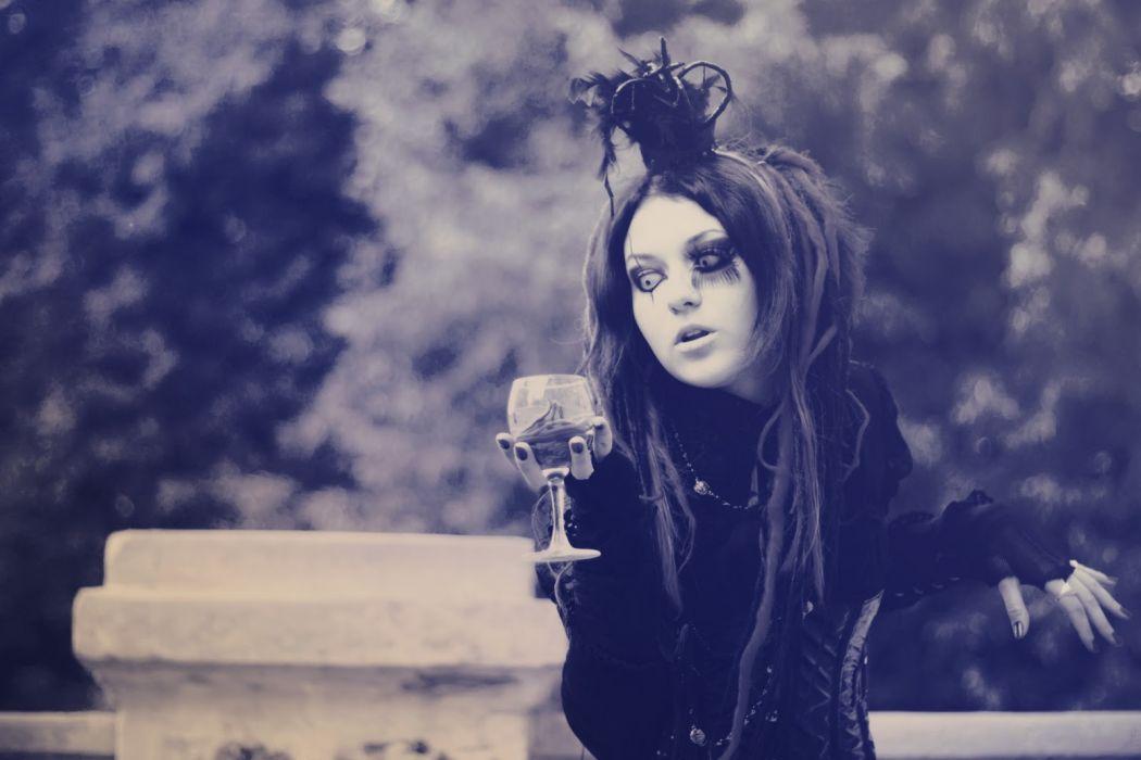 GOTHIC goth style goth-loli women girl   dq wallpaper
