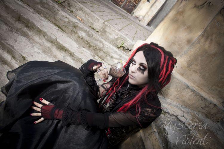 GOTHIC goth style goth-loli women girl fi wallpaper