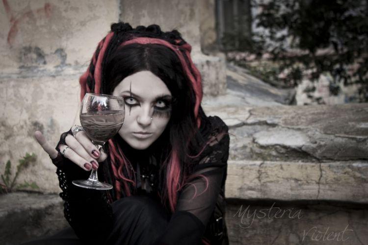 GOTHIC goth style goth-loli women girl rw wallpaper