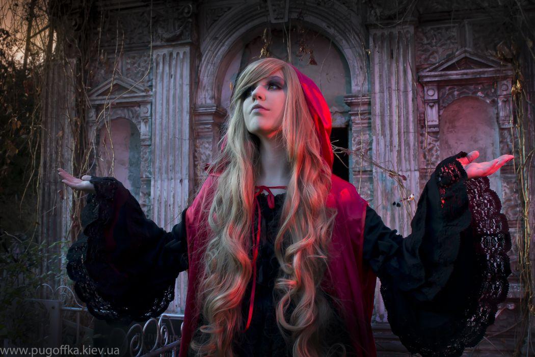 GOTHIC goth style goth-loli women girl dark  f wallpaper