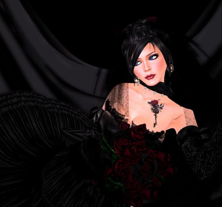 GOTHIC goth style goth-loli women girl fantasy  v wallpaper