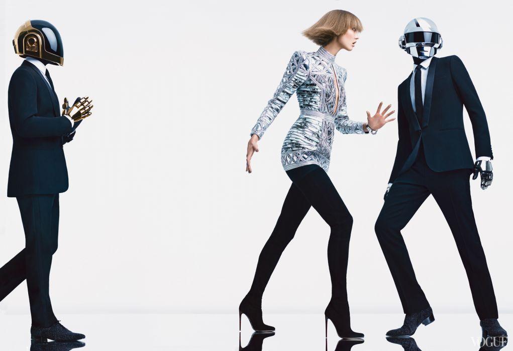 Daft Punk Karlie Kloss dubstep dub electro model girl wallpaper