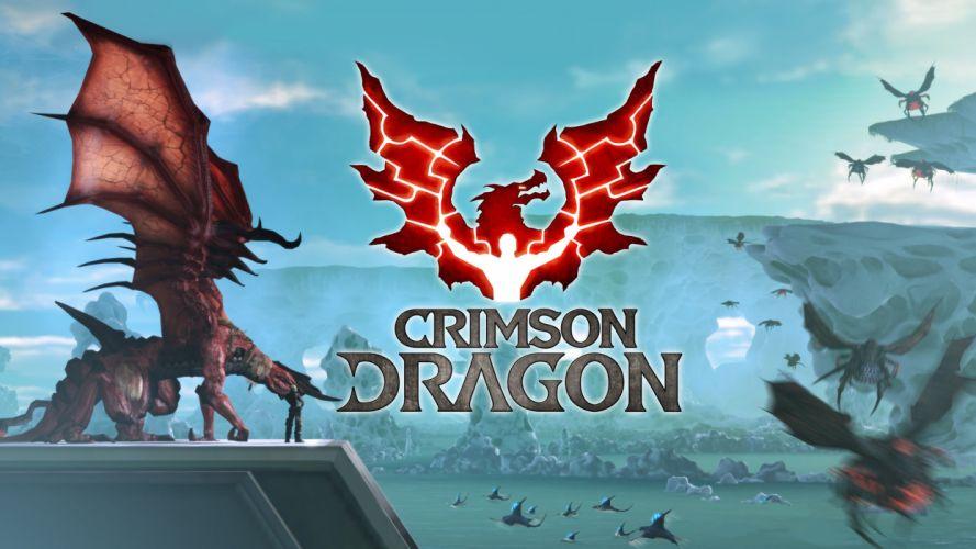 CRIMSON DRAGON fantasy d wallpaper