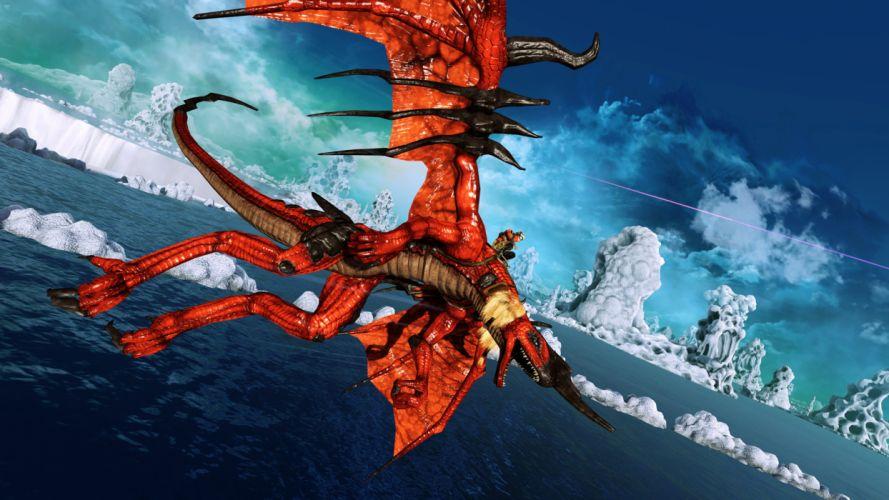 CRIMSON DRAGON fantasy f wallpaper