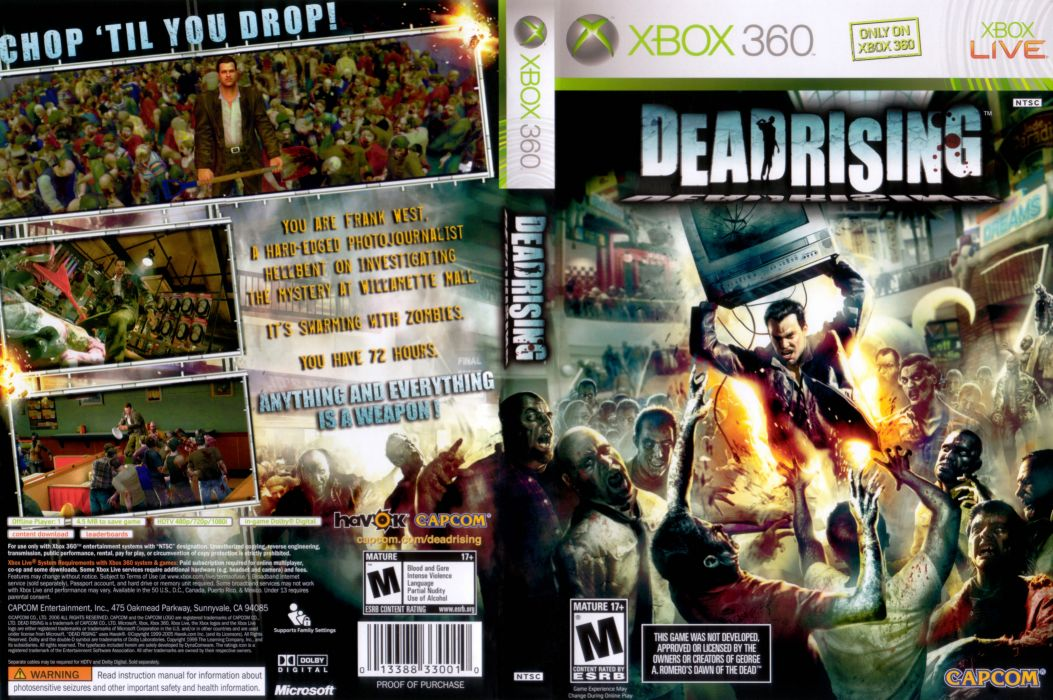 DEAD RISING dark game poster       f wallpaper