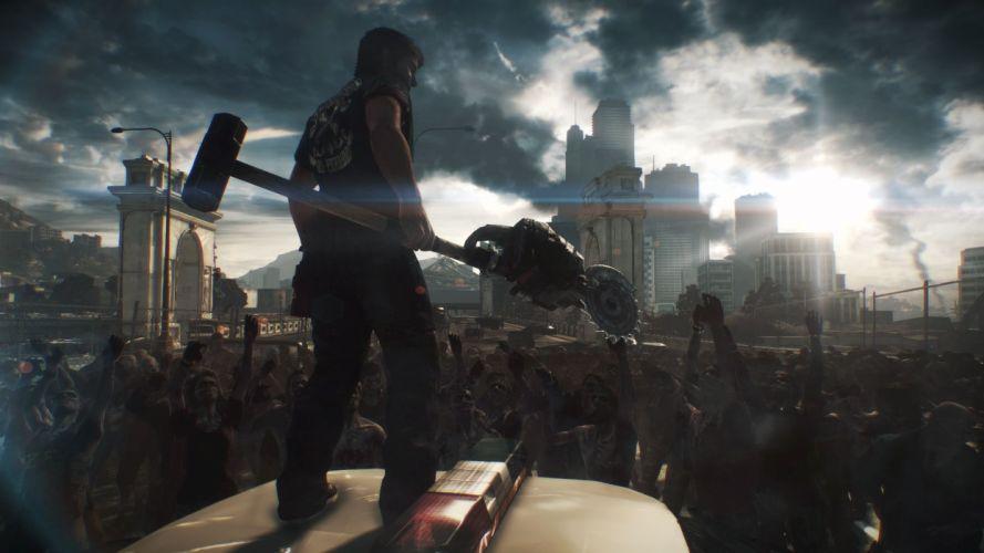 DEAD RISING dark game zombie apocalyptic f wallpaper