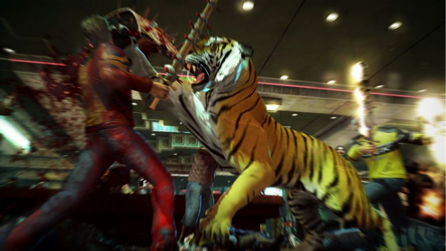 DEAD RISING dark game zombie warrior battle tiger g wallpaper