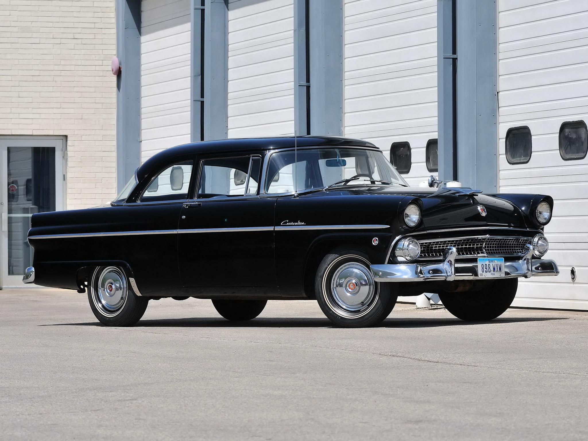 1955 ford customline 2 door sedan 70b retro f wallpaper