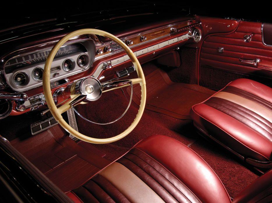 1960 Pontiac Bonneville Convertible (2867) luxury classic interior      f wallpaper