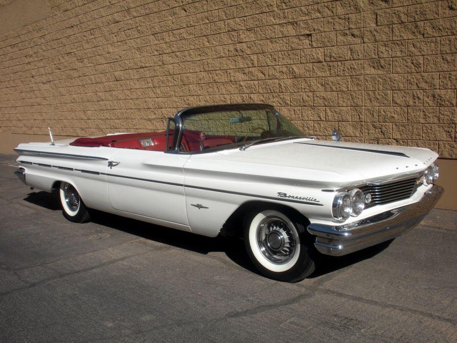1960 Pontiac Bonneville Convertible (2867) luxury classic g wallpaper