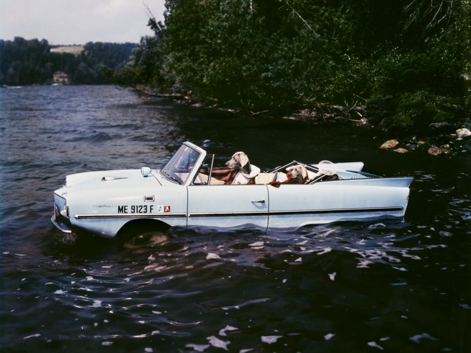 1961 Amphicar 770 Convertible amphibious classic boat ship   d wallpaper