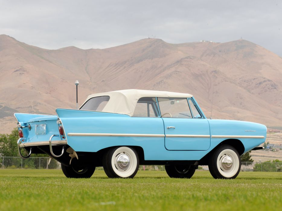 1961 Amphicar 770 Convertible amphibious classic boat ship  f wallpaper
