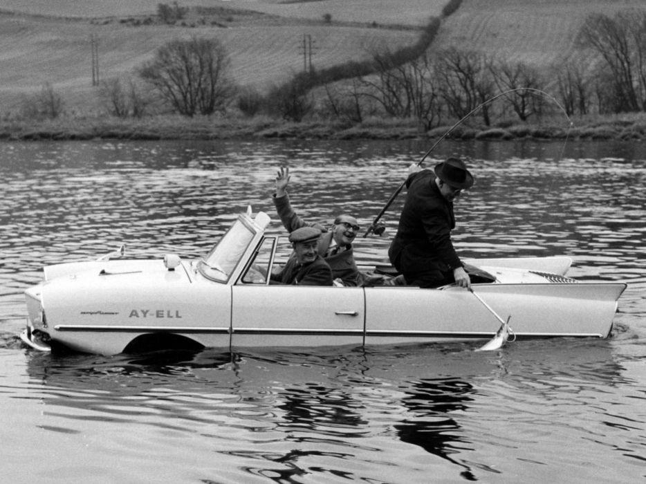 1961 Amphicar 770 Convertible amphibious classic boat ship fishing    g wallpaper