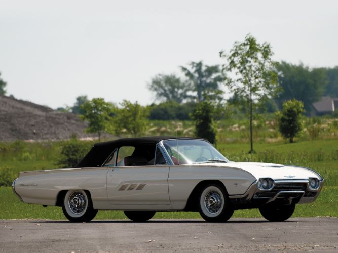 1963 Ford Thunderbird 390 340HP Convertible Roadster (76B) luxury classic supercar f wallpaper
