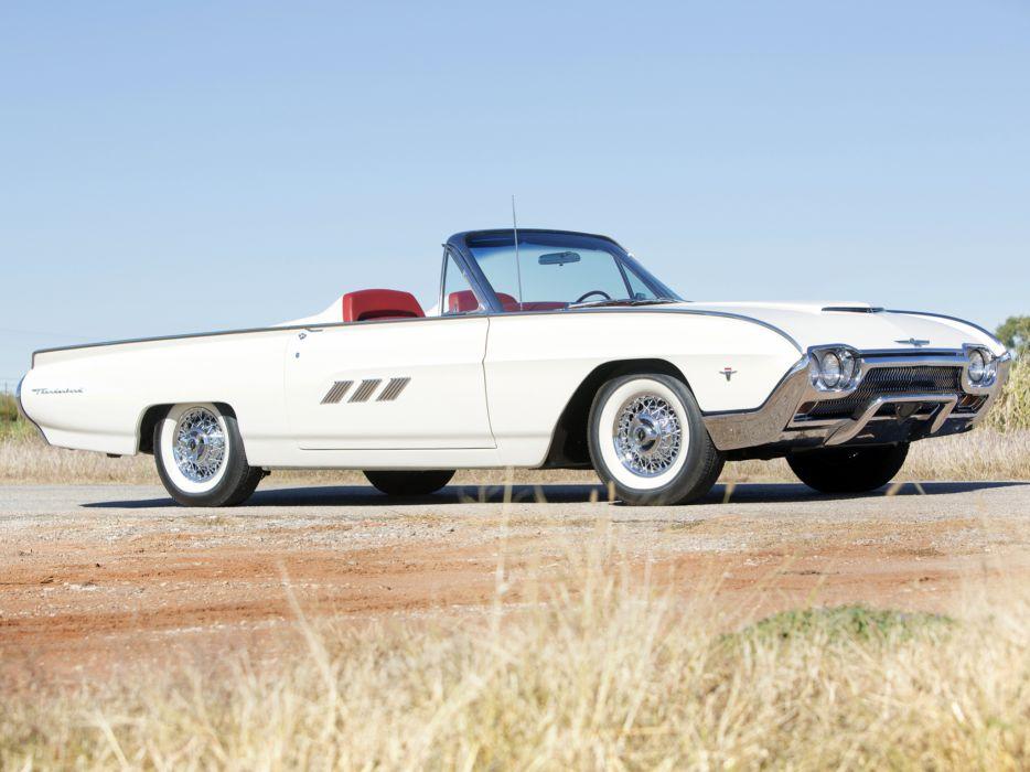 1963 Ford Thunderbird 390 340HP Convertible Roadster (76B) luxury classic   f wallpaper