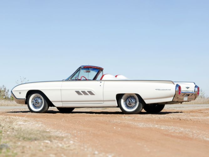1963 Ford Thunderbird 390 340HP Convertible Roadster (76B) luxury classic supercar wallpaper